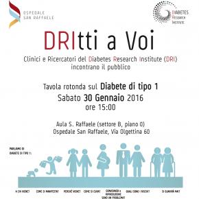 30 gennaio 2016<br>TAVOLA ROTONDA SUL DIABETE DI TIPO 1