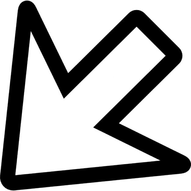 freccia-rivolta-verso-il-basso-profilo-di-sinistra_318-61033