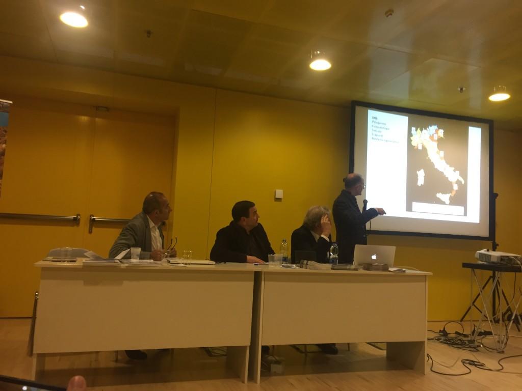 Presentazione prof. Piemonti durante il convegno