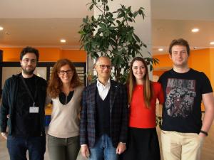 Il team di ricercatori dedicati allo studio delle staminali al DRI del San Raffaele
